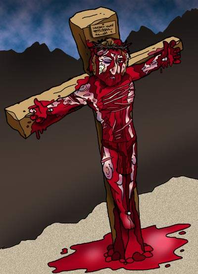 Crucifixion of Jesus crucified copyrighted