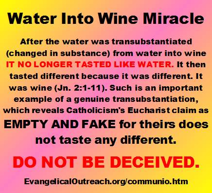 water into wine miracle transubstantiation