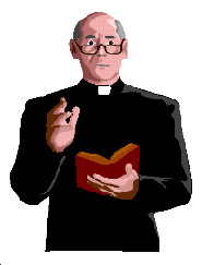 Catholic priest  with a prayer book.