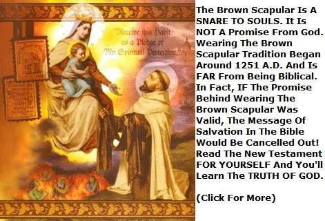 Scapular of Our Lady of Mount Carmel.