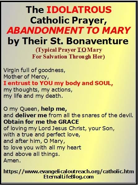prayers to Mary deception