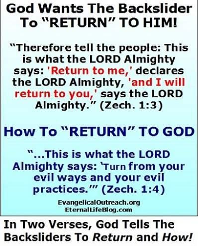 backsliding return to God