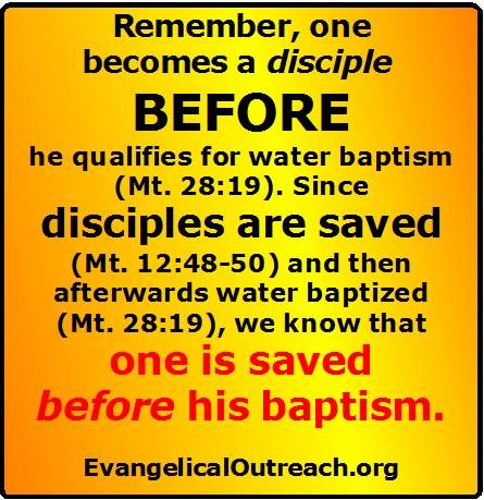 saved at baptism