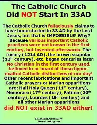 roman catholic church doesn't go by Jesus' teachings