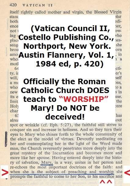 catholics worship mary