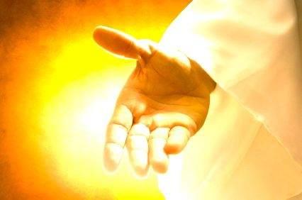 christian in God's hand