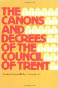 anathemas council of trent