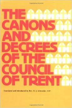 anathemas council of trent