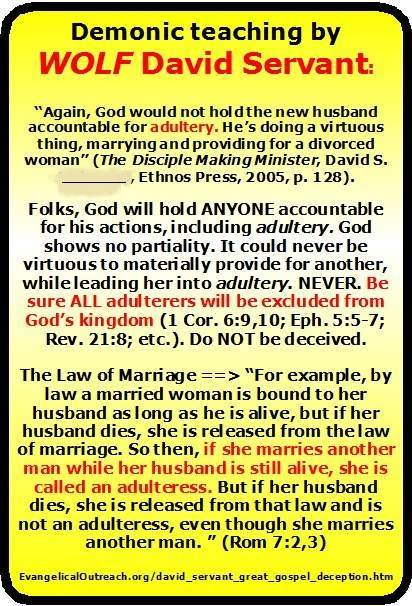 marrying a divorced woman is adultery