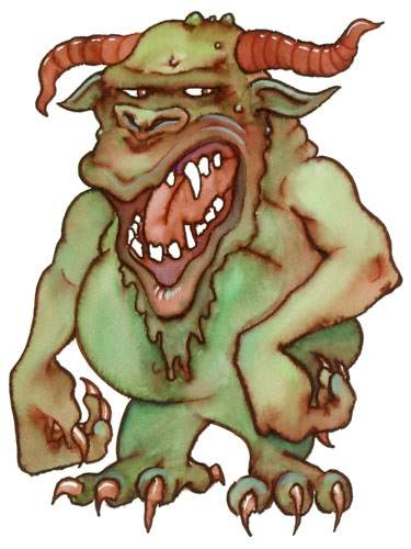 Demons do NOT look like this, but do formulate doctrine of demons!
