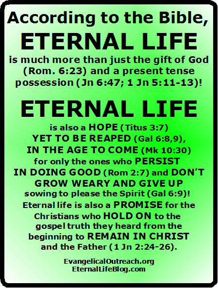 eternal security and eternal life