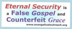 Eternal Security Once Saved Always Saved