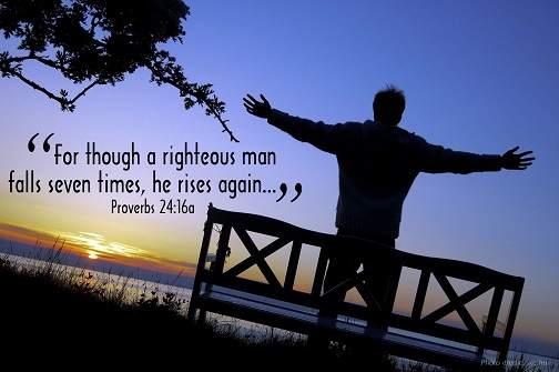 righteous man falls seven times