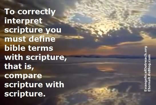 interpret scripture with scripture
