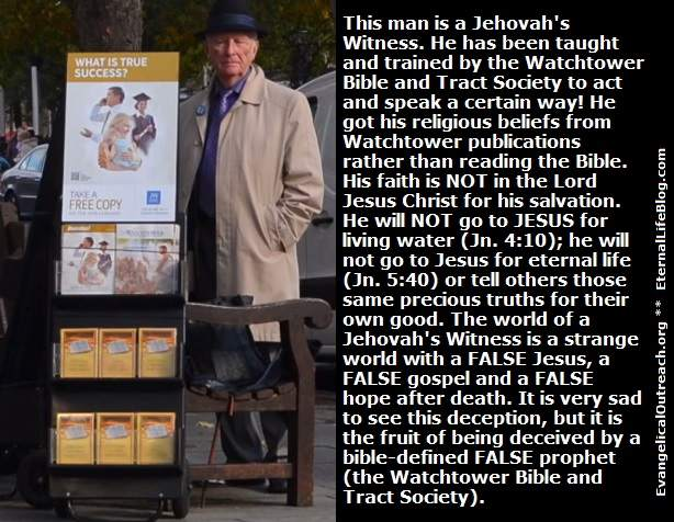 jehovah's Witness preaching the good news of the kingdom