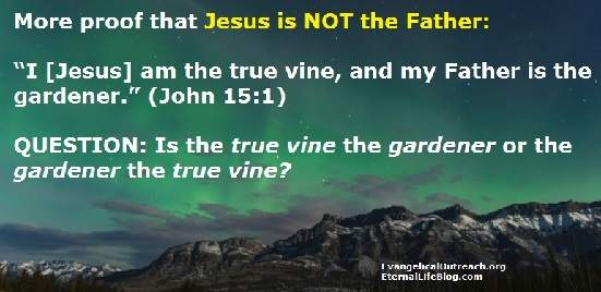 jesus is not the father