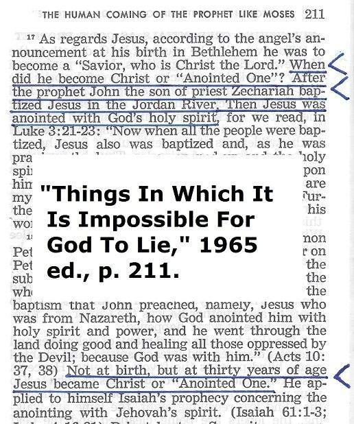 Jehovah's witnesses beliefs on Jesus