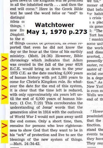 jehovahs witness false prophecy