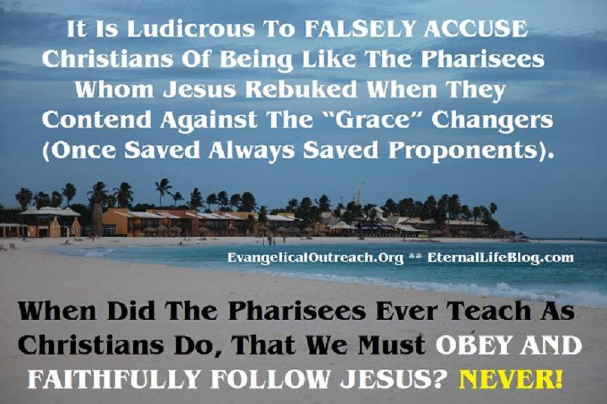 legalism works salvation accusation pharisees