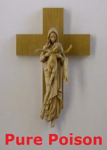 pictures of Jesus and mary on the cross