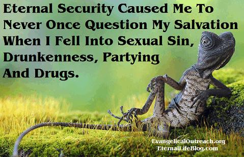 never question salvation eternal security
