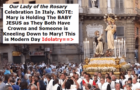 Mariolatry and the Catholic Mary in Italy.