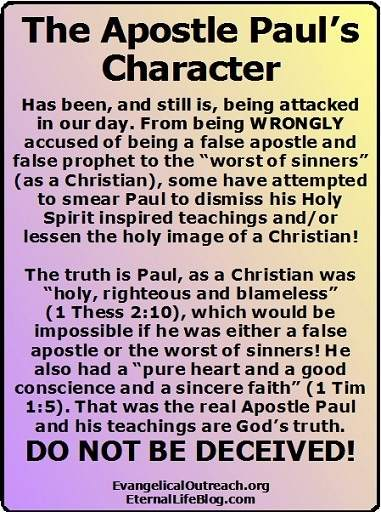 paul was a false apostle