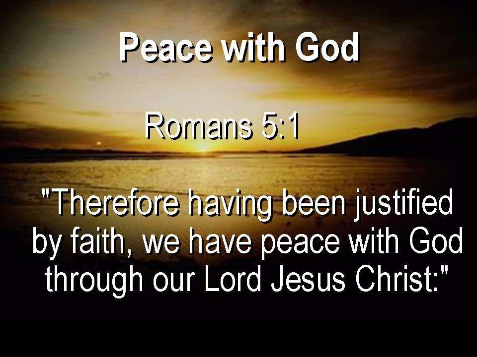 Image result for peace with god