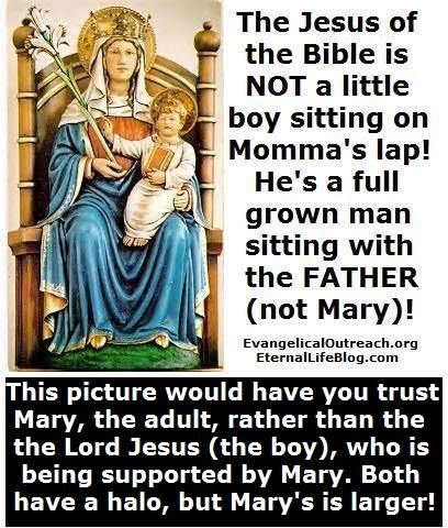 picture of Jesus boy on throne with mary