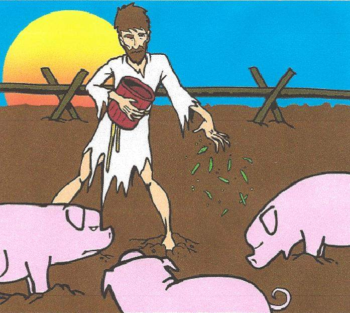 prodigal son feeding pigs