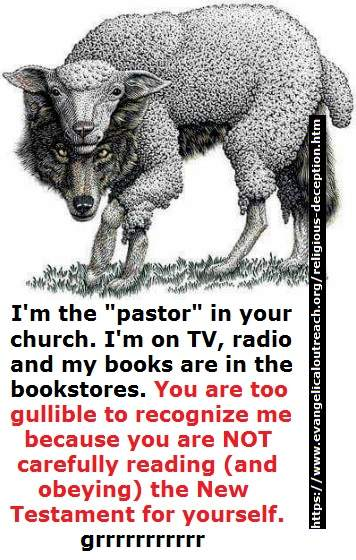 religious deception from wolves
