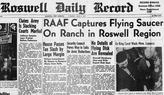 roswell ufo alien crash