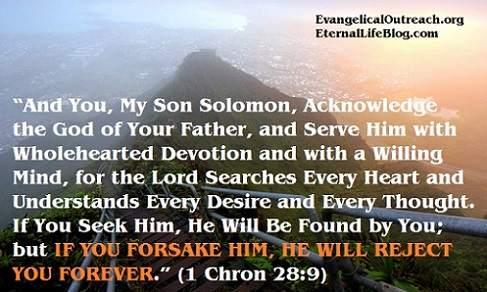 Solomon's apostasy into idolatry