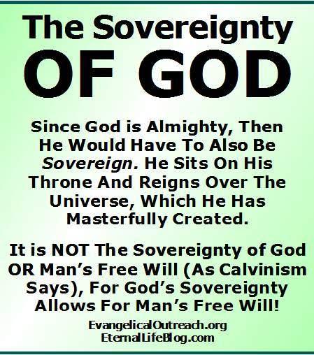 sovereign God sovereignty of God
