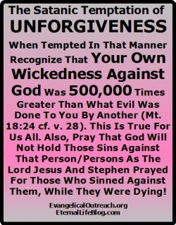 live holy holiness unforgiveness