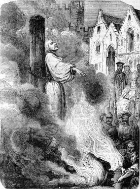 Christian Burning At Stake