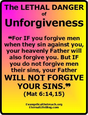 unforgiveness, forgive others, forgiven