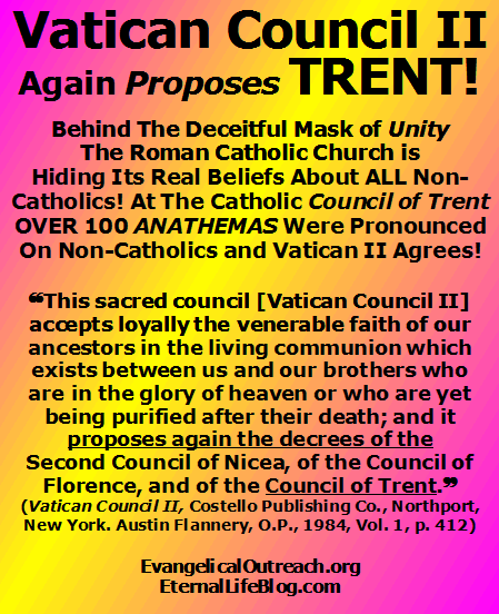 vatican council II proposes again TRENT