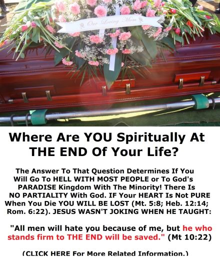 at the end of your life