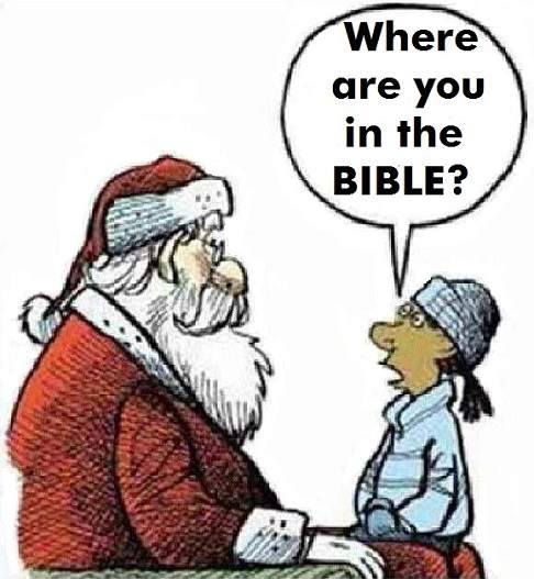 santa claus is not in the Bible